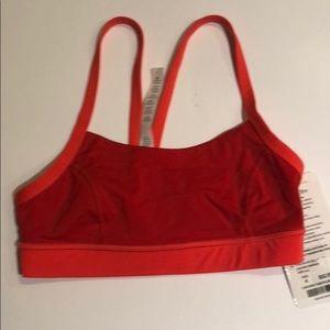 c84a1bf7550 lululemon athletica Intimates   Sleepwear - Lululemon Rise and Run Bra - Size  4 Flare Red